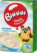 Каша молочная Рисовая с пребиотиками с 4 мес., 220 гр., Винни