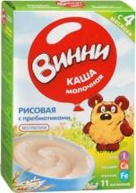 Каша Винни молочная рисовая с пребиотиками с 4 мес 220 г