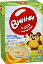 Каша молочная Рисово-кукурузная с бананом и пребиотиками с 5 мес., 220 гр., Винни