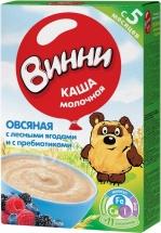 Каша молочная Овсяная с лесными ягодами с пребиотиками с 5 мес., 220 гр., Винни