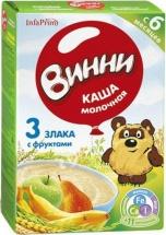 Каша Винни молочная 3 злака с фруктами с 6 мес 200 г