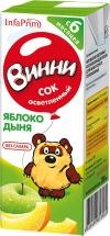 """Сок """" Яблоко-дыня осветлённый"""" с 6 месяцев 200 мл., Винни"""