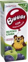 Сок Винни Яблоко-Слива осветленный с 5 мес 200 мл