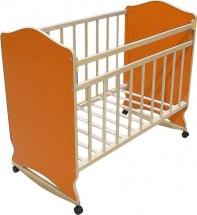 Кроватка ВДК Морозко колесо-качалка, оранжевый