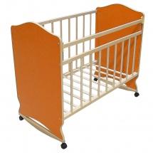 """Кроватка """"Морозко"""", колесо-качалка, Оранжевый, ВДК"""