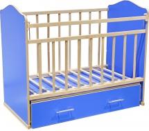 Кроватка ВДК Морозко поперечный маятник с ящиком, синий