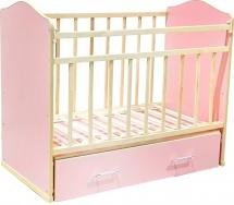Кроватка ВДК Морозко поперечный маятник с ящиком, розовый
