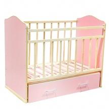 """Кроватка """"Морозко"""", поперечный маятник, ящик, Розовый, ВДК"""