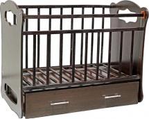 Кроватка ВДК Бьянка маятник поперечный с ящиком, венге