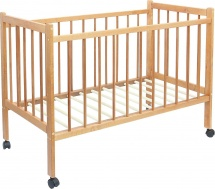 Кроватка Мир колибри Колибри с колёсиками, орех