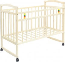 Кроватка Мир колибри Колибри Эко-3 колесо-качалка, берёза