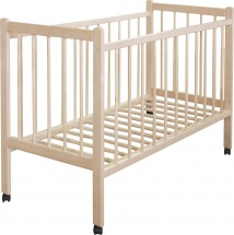 Кроватка Мир колибри Колибри с колёсиками, береза