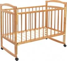 Кроватка Мир колибри Колибри Эко-4 колесо-качалка, орех