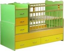Кроватка-трансформер Мир колибри Колибри-1, цветная
