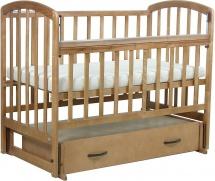 Кроватка Фея поперечный маятник с ящиком, медовый