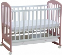Кроватка Фея колесо-качалка, белый/магнолия