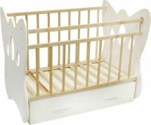 Кроватка ВДК Бабочка маятник поперечный с ящиком, белый