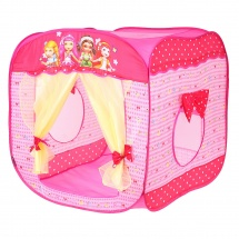 Палатка SumyCat Домик с занавесками, розовый