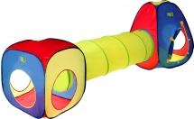 Палатка Цветные фигуры, с туннелем