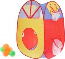 Палатка Дом с корзиной, 5 шариков