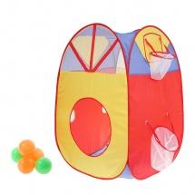 """Палатка """"Дом с корзиной"""", 5 шариков"""
