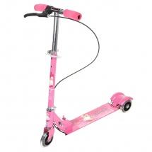 """Самокат стальной """"508PS"""", светящиеся колеса, розовый"""