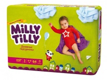 Подгузники Milly Tilly дневные 3 (4-9 кг) 64 шт