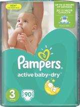 Подгузники Pampers Active Baby 3 (5-9 кг) 90 шт