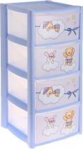 Комод для игрушек Пластишка Зверюшки, 4 ящика