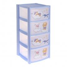 """Комод для игрушек """"Зверюшки"""", 4 ящика, Пластишка"""