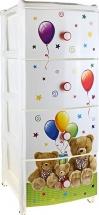 Комод для игрушек Альтернатива Медвежата, 4 ящика
