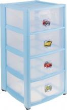 Комод для игрушек Пластишка с аппликацией 4 ящика, микс