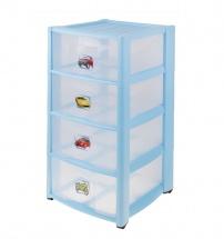 Комод для игрушек с аппликацией, 4 ящика, микс, Пластишка