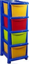 Комод для игрушек Пластик Центр Пальма, 4 ящика