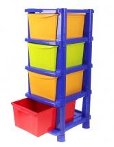"""Комод для игрушек """"Пальма"""", 4 ящика, Пластик Центр"""