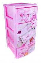 """Комод для игрушек """"Girl"""", 4 ящика, розовый, Альтернатива"""
