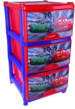 Комод для игрушек Альтернатива Тачки. Дисней, 3 ящика