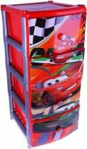 Комод для игрушек Альтернатива Тачки. Дисней, 4 ящика