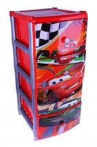 """Комод для игрушек """"Тачки. Дисней"""", 4 ящика, Альтернатива"""
