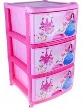 Комод для игрушек Альтернатива Сказочное королевство 3 ящика, розовый