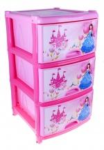 """Комод для игрушек """"Сказочное королевство"""", 3 ящика, розовый, Альтернатива"""