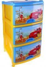 Комод для игрушек Альтернатива Автомобиль, 3 ящика