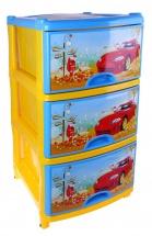 """Комод для игрушек """"Автомобиль"""", 3 ящика, Альтернатива"""