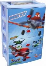 Комод для игрушек Альтернатива Самолеты. Дисней 4 ящика, голубой