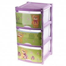 "Комод для игрушек ""Bears Tutti"", 3 ящика, лавандовый, Little Angel"