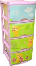 Комод для игрушек  Little Angel Bears Tutti 4 ящика, лавандовый