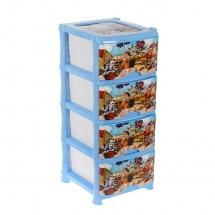 """Комод для игрушек """"Пираты"""", 4 ящика, голубой, Виолет"""