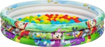Бассейн BestWay Disney Микки Маус 122х25 см с 75 шарами 91028