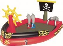 Бассейн BestWay Пираты 190х140х96 см с распылителем и игровым набором 53041
