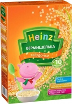 Вермишелька Heinz Звездочки с 10 мес 340 г